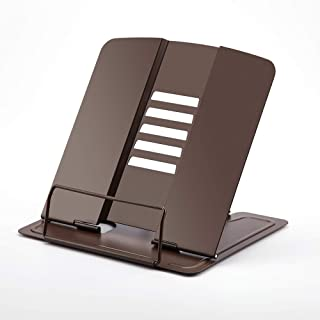 Portable Metal Book Stand Book Holder Adjustable 5 Angles Bookstand Document Holder Bookshelf Reading Accessories Tool for...