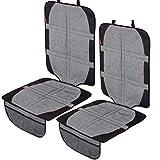 2er Set LCP Kids XL Autositzschoner Robuste Kindersitzunterlage Autositzauflage mit Isofix, Grau Melange