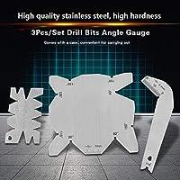一般的な角度ゲージ角度ゲージセットドリル直径角度ゲージ3個/家庭用エッセンシャルツール用品用ケース付きセット角度ゲージ