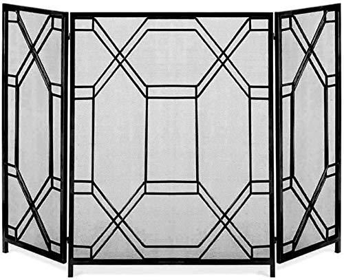 Chimenea chispa pantallas de protección contra incendios plegable de hierro forjado Grupo 3, Baby Safe Large Tall Spark metal Guardia Mesh for estufa