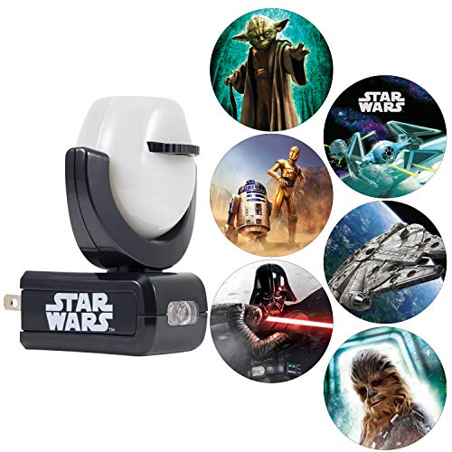 Projectables LED Night Light Projector, Plug-in, Dusk-to-Dawn, Collector's Edition, Ceiling, Wall, or Floor, Ideal for Bedroom, Nursery, 43646, Star Wars | 6-Image