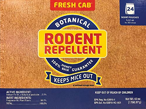 Fresh Cab Animal Repellent Pouch For Rodents 24 pk
