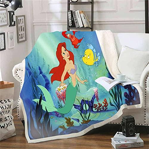 Goplnma - Coperta Arielle La Sirenetta, Regali Disney Principessa in pile Arielle, per ragazze e adulti (100 x 140,23)