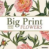 Big Print Flowers 2022 Wall Calendar, Floral Large Grid Planning