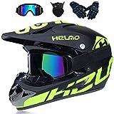 Motocross Helme Downhill Helme Motorrad Crosshelme & Endurohelme,Unisex Adult Off Road Helm Kit Motorradhelm Cross Helme Schutzhelm (L(56-57CM))