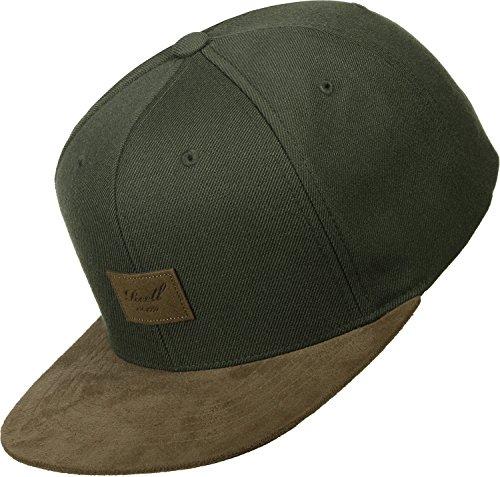 Herren Kappe REELL Suede Cap, Grün, one size