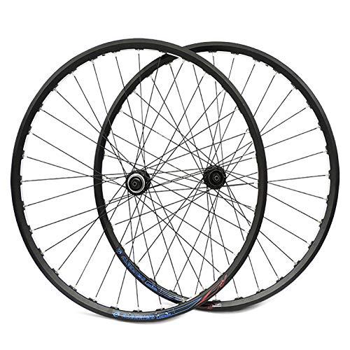 Ruedas para Bicicleta,27,5 Pulgadas Aleación de Aluminio Llanta de Doble Piso Compatible con Velocidad 8/9/10 Apto para Bicicletas Ruedas Ciclismo