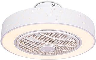 Ventilateur De Plafond LED Plafonnier - Dimmable avec Télécommande, Creative Moderne Pépinière Chambre Lampe Bureau Restau...