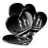 Destination Vinyl ltd Great Posavasos (juego de 4) corazón – BW – Cutty Sark barco vela bebida, posavasos brillantes/protección de mesa para cualquier tipo de mesa #39030