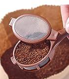 Mini Cafetera/difusor de té - colador manual con malla de acero inoxidable, ideal para café de grano u otro tipo de café, Capacidad: 12 gramos, recomendable para viajes o para el hogar
