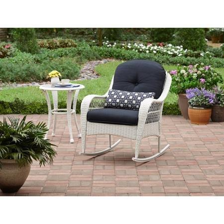 Azalea Ridge All-Weather Rocker, Uv-Protection, Perfect for The Front Porch, Patio or Sunroom, White (White)
