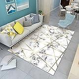 alfombras habitacion pequeñas La Alfombra Blanca Negra, el mo lo Rayas Ancho El Mecanismo Simple es fácil Limpiar la Alfombra sgaste alfombras Gran s para Salon -En Blanco y Negro_50x8