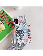 Herbests Compatible con Samsung Galaxy A71 Funda de Silicona Suave Funda de Flores Elegante Carcasa Diseño Ultra Delgada Cubierta TPU Bumper Antishock Case Cover, Rosa