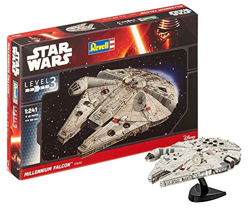 Revell Star Wars Millennium Falcon Kit modele, Escala 1:241 (03600), Multicolor