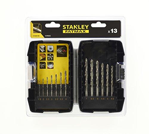 STANLEY STA88100-XJ Metal Drill Bit Set, Silver