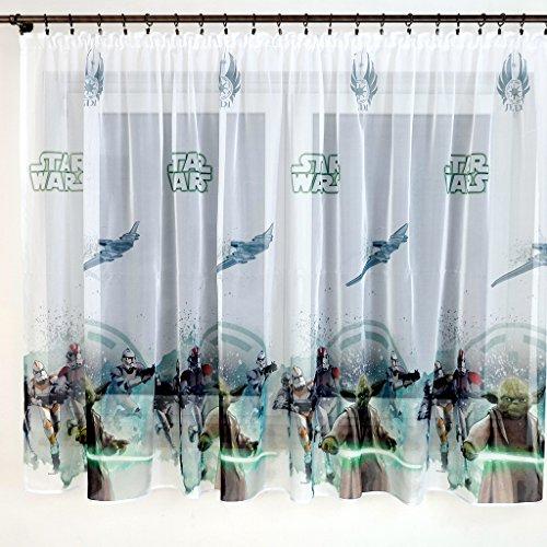 Tkaniny GFS-2 Disney Rideaux pour chambre d'enfant Motif Star Wars/YODA