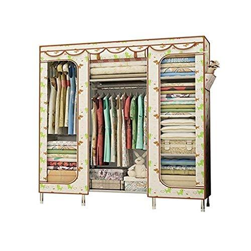 LJP Armario portátil para ropa de armario, armario independiente, simple, rápido y fácil de montar, armario de almacenamiento de ropa (color: A)