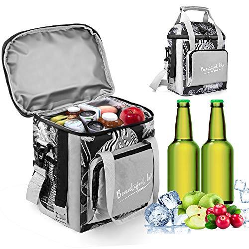 Wayrank kühltasche klein 12L mit Flaschenöffner, Lunch Tasche Isoliertasche für Büro, Picknicktasche für Camping Grillfeste Beach Outdoor Reisen - 1 Packung