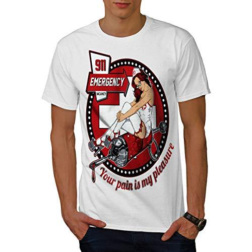 TRK Wellcoda Sexy Nurse Emergency Mens T-Shirt, Costume Graphic Design Printed tee KUYNB