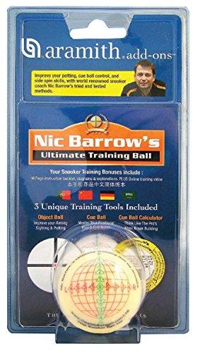 Aramith TRAININGSKUGEL 52 mm Snooker NIC Barrow, mit Übungsanleitung