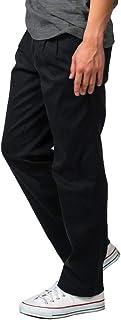 チノパン メンズ ストレッチ (選べる股下でピッタリフィット) テーパード (S~8L) チノパンツ 大きいサイズ ストレート 無地 定番 綿 ノータック ツータック