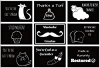 Thank You Card Pack of 52 (with Envelopes) by Eat That Frog   Cute and Funny Designs To Make Them Laugh   Great for Graduation, Wedding, Holidays, Etc.   By Eat That Frog (Funny and Punny, 52 Pack) [並行輸入品]