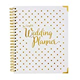 Wedding Planner Book Gold - Undated Bridal Planning Diary Organizer - Hard Cover