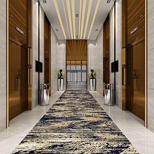 ZQIAN Alfombra Dormitorio 1.4x3.5m Antideslizante y Fácil de Lavar Alfombra Peluda Muy Robusta, para Pasillo, Habitación, Cocina, E
