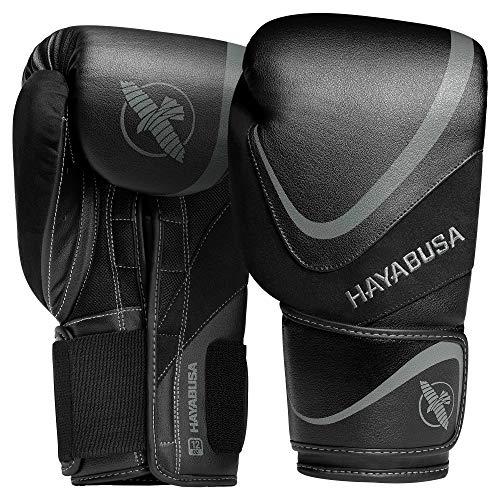 Hayabusa H5 Boxing Gloves for Men and Women - Black/Grey, 16 oz