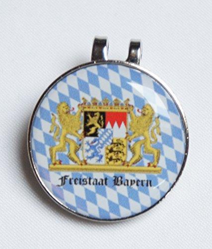 Cap-Clip mit Golfball Marker FREISTAAT Bayern
