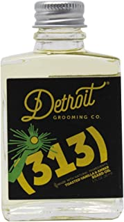 Detroit Grooming Co. Beard Oil (313) Toasted Vanilla Amber Scent for Men - Essential Oils and Natural Ingredients Nourish ...