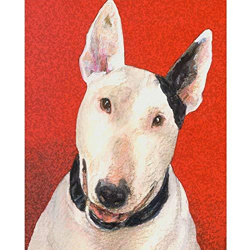 Diopn 5D diamant schilderij stier Terrier hond DIY dier stier Terrier hond kruis steek diamant mozaïek ambachten borduurwerk (Rond diamant 30 * 40) 40 * 50