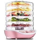 DXQDXQ Secadora Deshidratadores de Alimentos 5 Pisos Deshidratador de Frutas y Verduras 35-70°C Temperatura Regulable 250W...