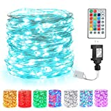 BrizLabs Fairy String Lights, 66ft 200 LED Color Changing Fairy Lights with Remote, Unique Dual Color Plug in Twinkle Lights, Waterproof RGB Multicolor Lights String for Bedroom Indoor Outdoor Decor