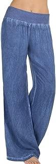 CICIYONER Mujeres Pantalones Casuales Pantalones Vaqueros Cintura Alta Elasticidad Denim Pierna Ancha