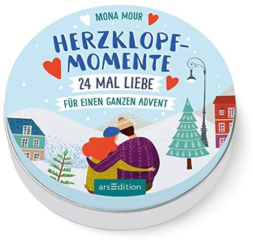 Herzklopfmomente. 24-mal Liebe für einen ganzen Advent: Adventskalender in dekorativer Dose, voller romantischer Kurzgeschichten