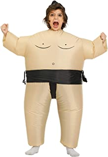 Kooy Inflatable Flamingo/Sumo/Bull/Horse Costume Inflatable Halloween Party Costumes Blow up Costume Adult/Kids