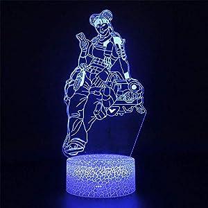 3D Night Light LED Touch 3D Table Lamp Night Light Illusion LED Lamps APEX Legends Figure Nightlight Lamp MAGY