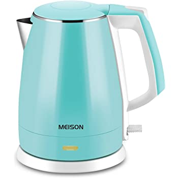 WHITE TIGER Large Capacity with LED Light Auto Shut-Off and Boil-Dry Protection Stainless Steel Inner Lid /& Bottom 1.7L Electric Glass Kettle