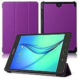 Smart Cover für Samsung Galaxy Tab A SM-T550 T551 T555 9.7 Zoll Hülle Stand Slim Flip (Lila)