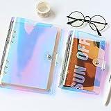 STOBOK Diario transparente iridiscente con cubierta multicolor – Cuaderno de PVC para escribir bocetos, tamaño A5