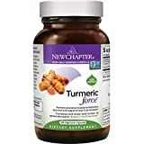 New Chapter Turmeric Supplement, One Daily, Joint Pain Relief + Supercritical Organic Turmeric, Black Pepper Not Needed, Non-GMO, Gluten Free – 120 Count (4 Month Supply)