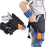 Leagway Kids Tactical Waist Bag, Tactical Waist Leg Holster for Nerf Guns N-Strike Elite Series Blaster, Adjustable Nerf Gun Holster for Nerf Guns (Dart and Dart Wrister Not Included)