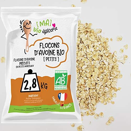 [Ma] bio-épicerie | Flocons d'avoine – petits BIO | 2,8 Kg | Sachet vrac | Certifié biologique | Riche en fibres et source de protéines