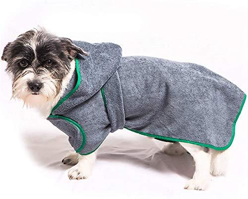 DHGTEP Toalla Baño para Perros, Albornoz Microfibra para Perros, Toalla Superabsorbente para Hembras y Machos de Secado Rápido, Pijama para Perros Ajustable (Size : S)
