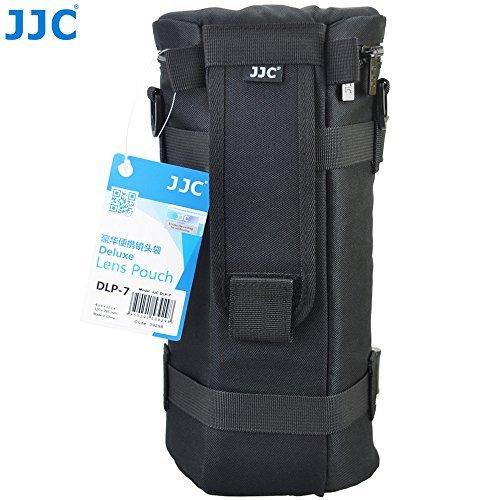 JJC DLP-7 Deluxe Water-Resistant Lens Pouch Case for Tamron SP 150-600mm F5-6.3 Di VC USD G2, Sigma 150-500mm F5-6.3 DG OS HSM, Nikon AF-S NIKKOR 200-500mm f5.6 ED VR, fits Lens Up to 144x 316mm