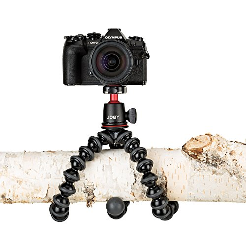 Joby JB01507 GorillaPod 3K Kit. Compact Tripod 3K Stand and Ballhead 3K for Compact Mirrorless Cameras or Devices up to 3K (6.6lbs). Black/Charcoal.
