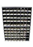 7700 Piece Grade 8 FINE Thread Bolt, NUT, LOCKNUT and Washer Assortment with Two (40) Hole Durham BIN 1/4'-3/4'
