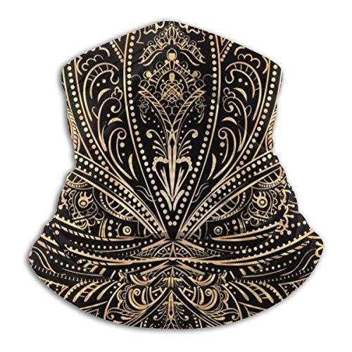 Calentador de Cuello The Golden Lotus Tattoo Calentador de Cuello Pasamontañas a Prueba de Viento Capucha de Lana Sombreros de Invierno UV Gratis