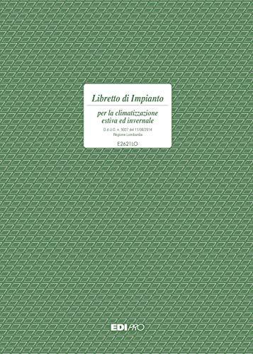 EDIPRO - E2621LO - Libretto di impianto per la climatizzazione 48 pagine regione Lombardia f.to 29,7x21